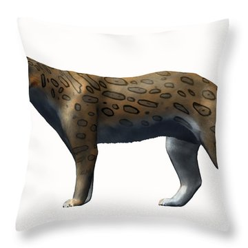 Megantereon Cultridens, Pliocene Throw Pillow by Nobumichi Tamura