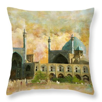 Meidan Emam Esfahan Throw Pillow by Catf