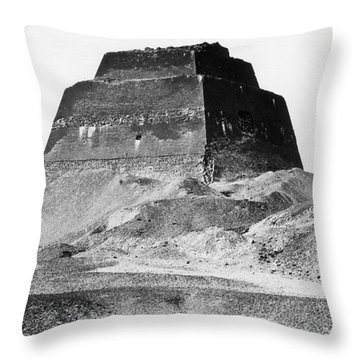 Meidum Pyramid, 1879 Throw Pillow by Science Source
