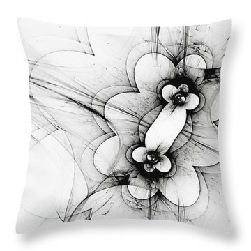 Throw Pillow featuring the digital art Meiosis by Arlene Sundby