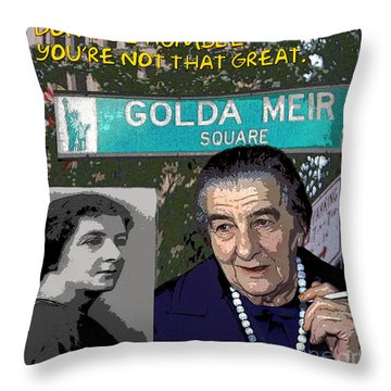 Meir Quote Throw Pillow