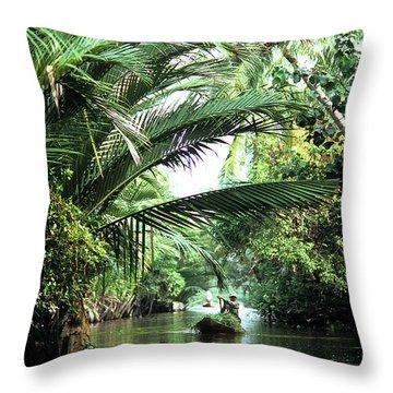 Mekong Delta Backwater 01 Throw Pillow