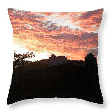 Throw Pillow featuring the photograph Melaque Sunset by Brian Boyle