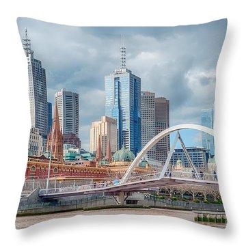 Melbourne Australia Throw Pillow