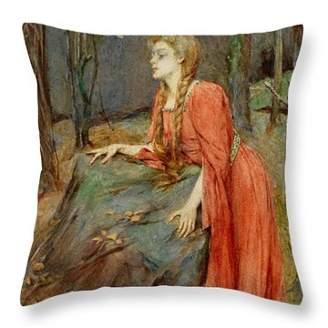 Melisande Throw Pillow by Henry Meynell Rheam