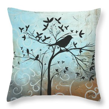 Melodic Dreams By Madart Throw Pillow by Megan Duncanson