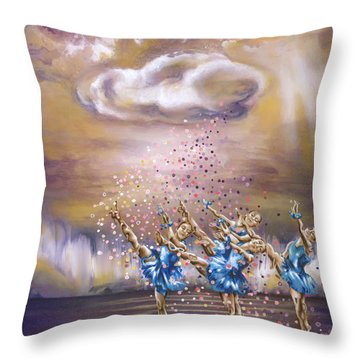Melody Throw Pillow by Karina Llergo