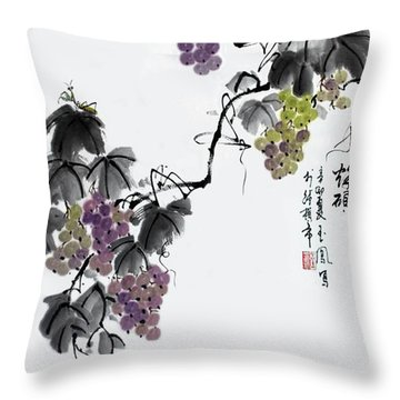 Melody Of Life II Throw Pillow by Yufeng Wang