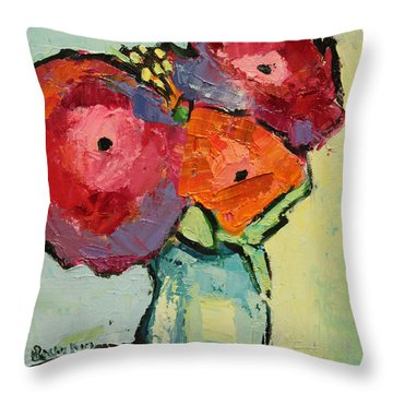 Throw Pillow featuring the painting Melody Of Love by Becky Kim