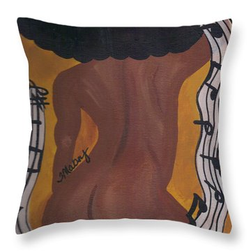 Melody Throw Pillow by Ty Mabry