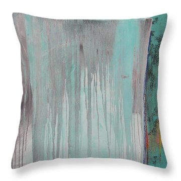 Throw Pillow featuring the painting Melt  C2011 by Paul Ashby