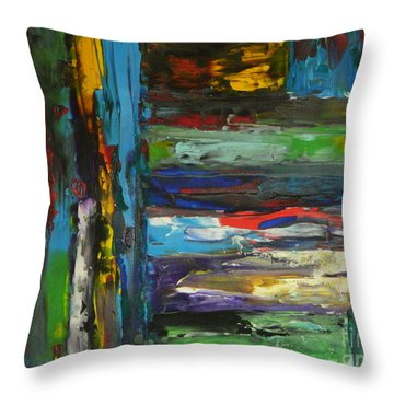 Melted Crayons Throw Pillow by Everette McMahan jr