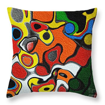 Melted Rubiks Cube Throw Pillow by Andee Design