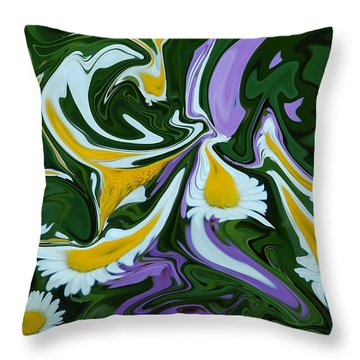 Melting Daisies Throw Pillow by Aimee L Maher Photography and Art Visit ALMGallerydotcom