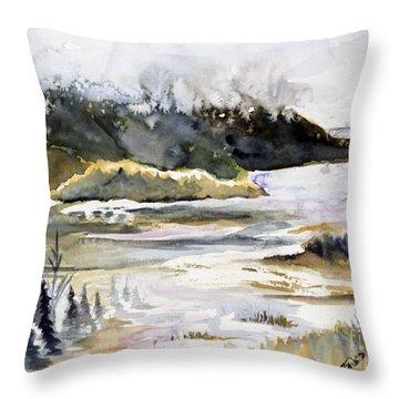 Melting Glacier Throw Pillow