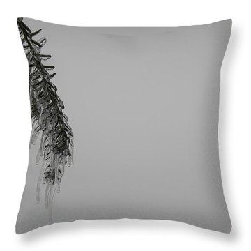 Melting Ice Throw Pillow