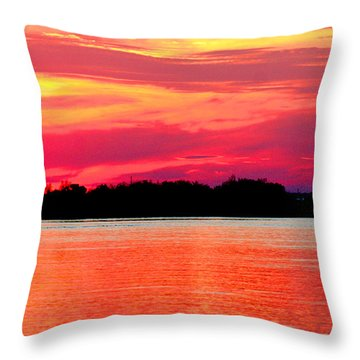 Melting Sky  Throw Pillow