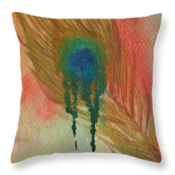 Throw Pillow featuring the painting Melting by Suzette Kallen