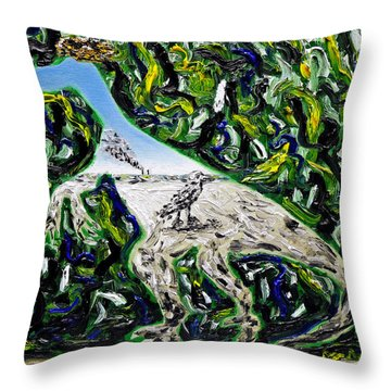 Throw Pillow featuring the painting Memetic Process by Ryan Demaree