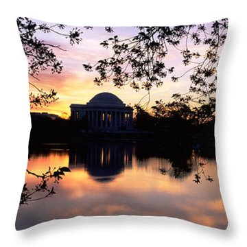 Memorial At The Waterfront, Jefferson Throw Pillow