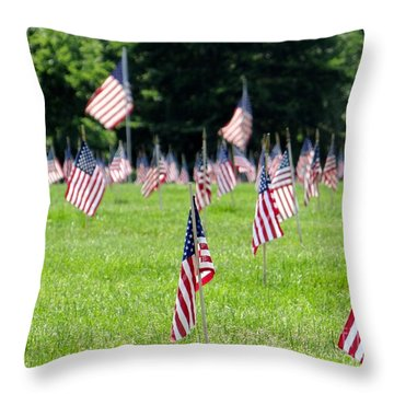 Throw Pillow featuring the photograph Memorial Day by Ed Weidman