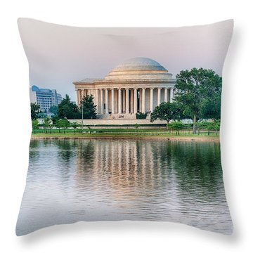 Memorial Sunset Throw Pillow