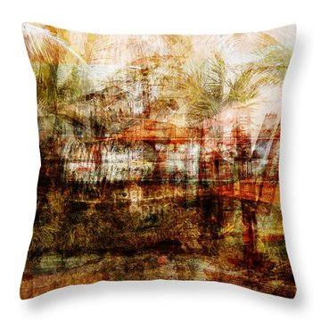 Throw Pillow featuring the mixed media Memories #1 by Sandy MacGowan
