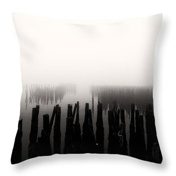 Memories And Fog Throw Pillow by Bob Orsillo