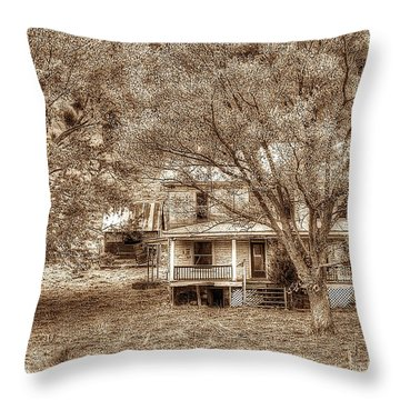 Memories Behind The Trees Throw Pillow by Dan Friend
