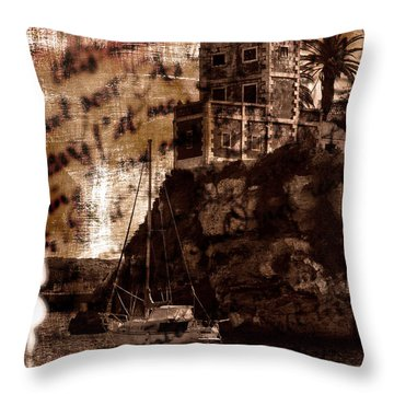Throw Pillow featuring the photograph Memories By The Sea by Pedro Cardona