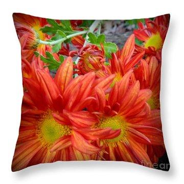 Memories Of Carols Garden Throw Pillow