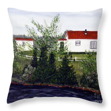 Memories Of Home  Throw Pillow by Barbara Griffin