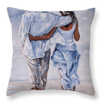 Memories Of Love Throw Pillow by Emerico Imre Toth