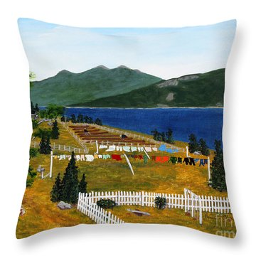 Memories Of Monday Throw Pillow by Barbara Griffin