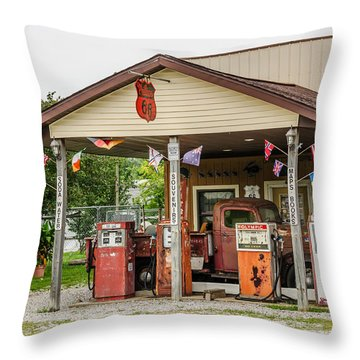 Memories Of Route 66 Throw Pillow