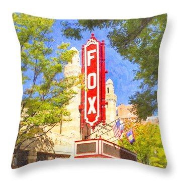 Memories Of The Fox Theatre Throw Pillow by Mark E Tisdale