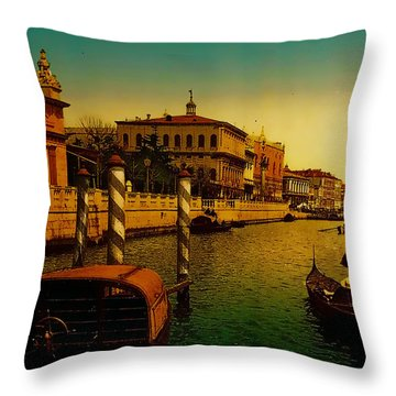 Throw Pillow featuring the painting Memories Of Venice No 1 by Douglas MooreZart
