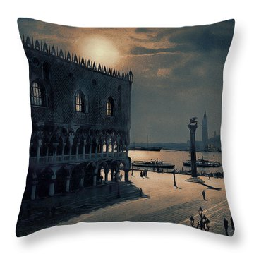 Memories Of Venice No 2 Throw Pillow
