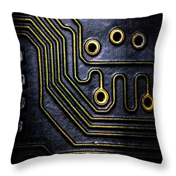 Memory Chip Number Two Throw Pillow by Bob Orsillo