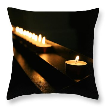 Memory Flame Throw Pillow