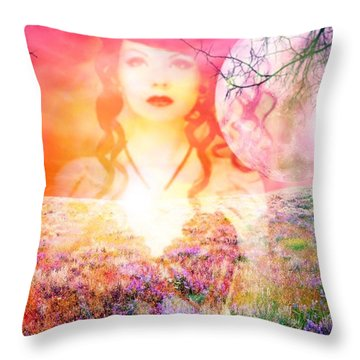 Throw Pillow featuring the digital art Memory Of Her by Diana Riukas