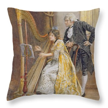 Memorys Melody Throw Pillow by George Goodwin Kilburne