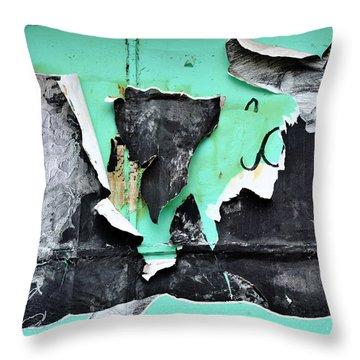 Memphis Found Art Green Good On Ya Throw Pillow