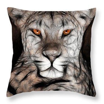 Memphis Leopard Artwork Throw Pillow