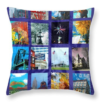 Memphis Throw Pillow by Lizi Beard-Ward