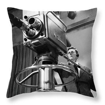 Memphis Television - 1956 Style Throw Pillow