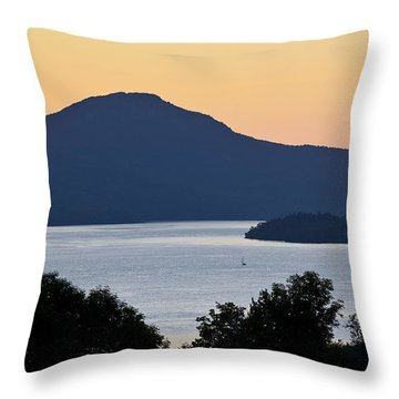 Memphremagog Twilight Throw Pillow