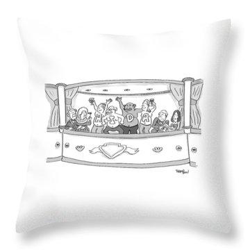 Men At The Opera Throw Pillow