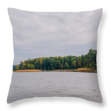 Men Fishing On Barren River Lake Throw Pillow