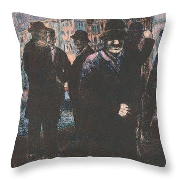 Men Throw Pillow by Kendall Kessler